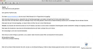 Paypal Fake Email Screenshot