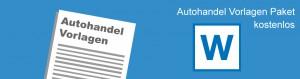 Autohandel Formulare