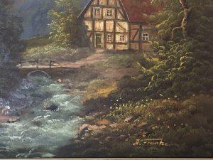 Ölgemälde von A. Franke