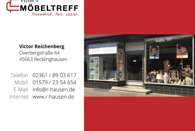 Schaufenster, Kontakt Victor's Möbeltreff Recklinghausen