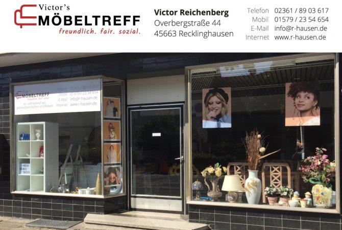 Schaufenster Victor's Möbeltreff Recklinghausen