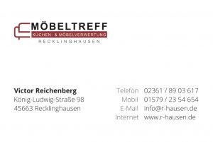 Visitenkarte Möbeltreff Recklinghausen