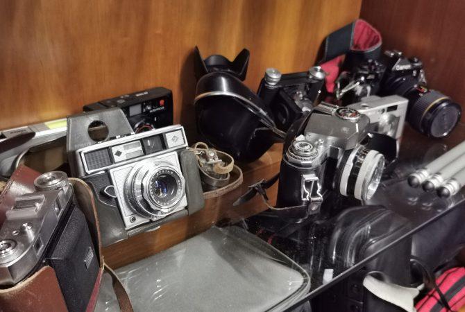 Alte Fotoapparate, Vintage, Retro